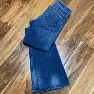 Red Engine Dark Wash Flare Bottom Jeans-Like NEW